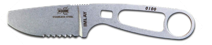 ESEE Imlay SAR Swiftwater Rescue Knife, Sheath, Clip Plate, Retention Strap